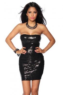 Rochie de club, din paiete, de culoare neagra